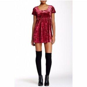 American Apparel Crushed Velvet Babydoll Dress